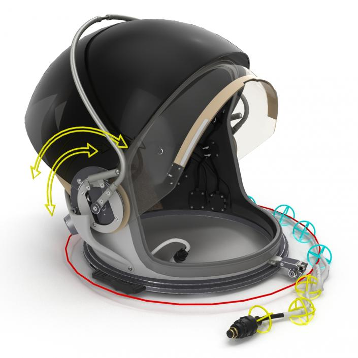 US Advanced Crew Escape Helmet Rigged 3D