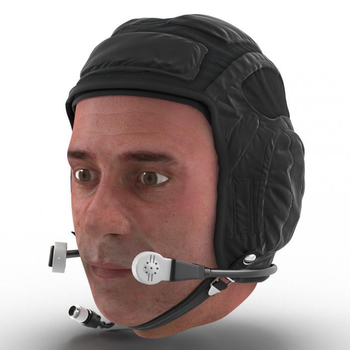 Pilot Head Rigged 3D