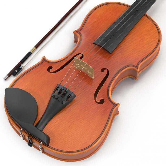 3D model Violin Set