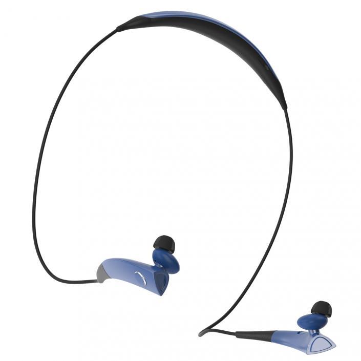 Bluetooth Headset Samsung Gear Circle Blue 3d 3d Molier International