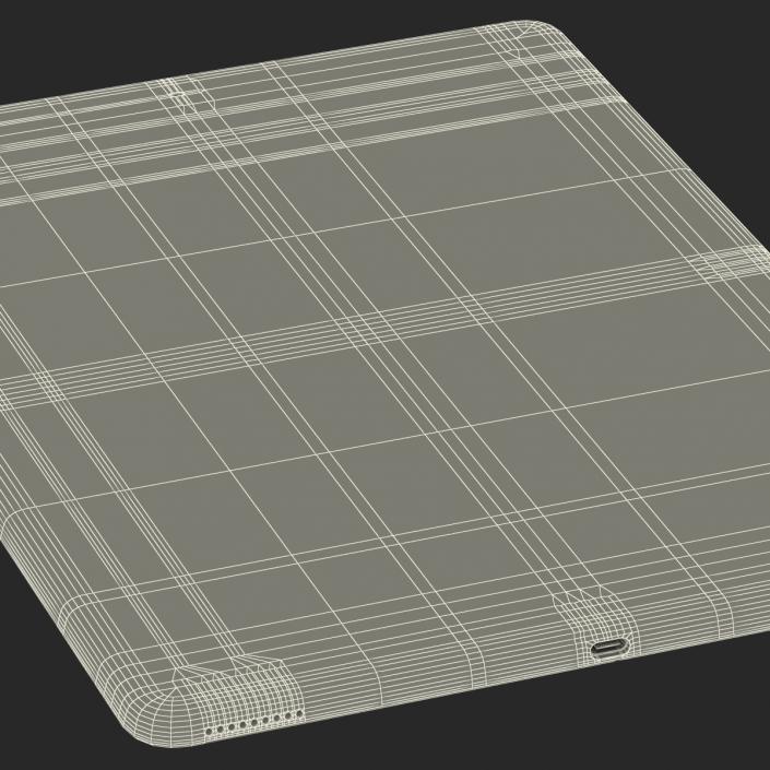 3D model iPad Pro Silver