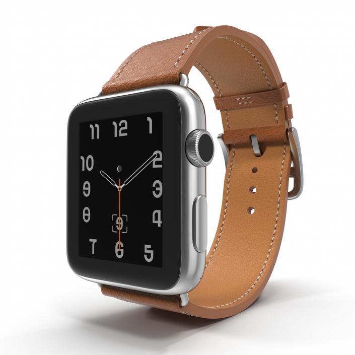 Apple Watch Hermes 42mm Stainless Steel Case 3D model