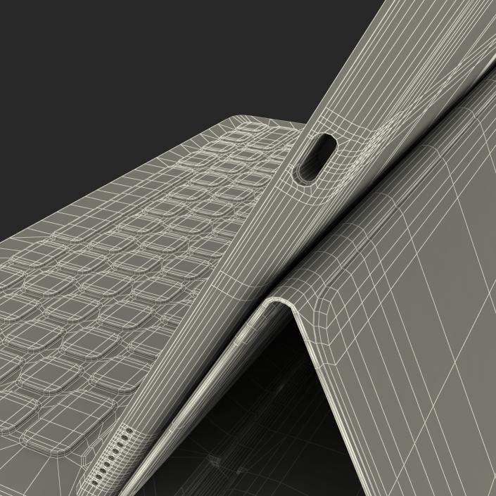 3D model Ipad Pro and Apple Smart Keyboard Rigged