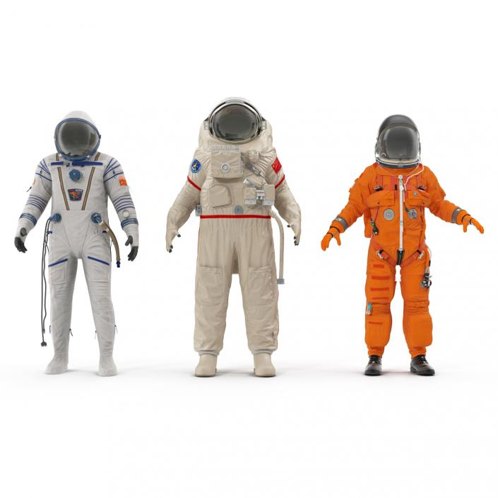 Space Suits Rigged Collection 3D model