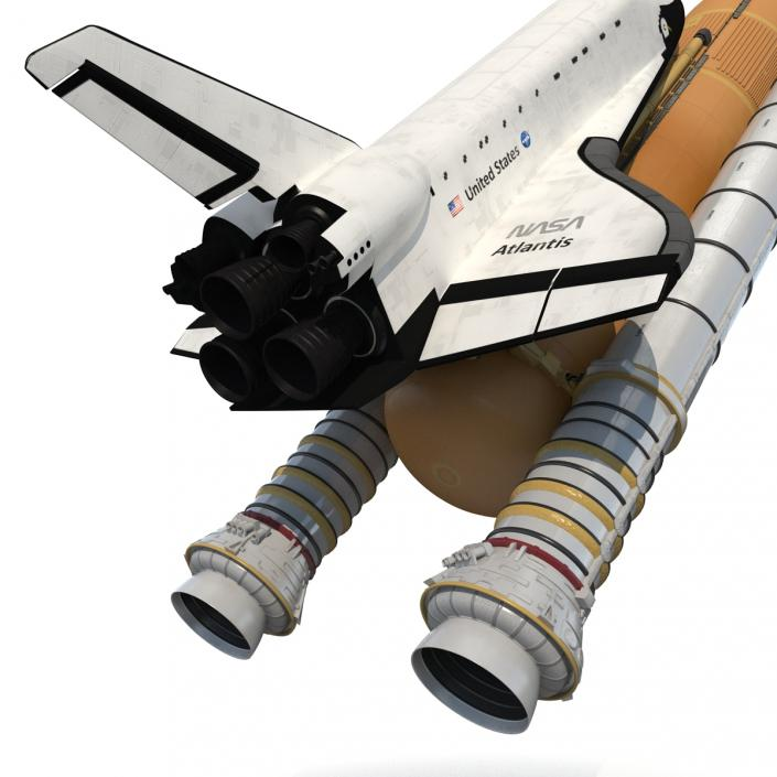 Space Shuttle With Boosters 3D