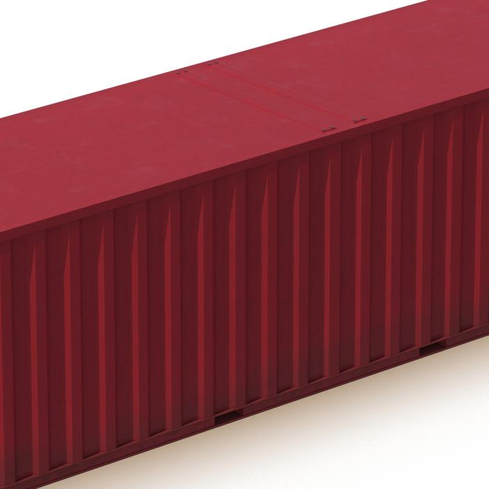 48 ft Shipping ISO Container Red 3D