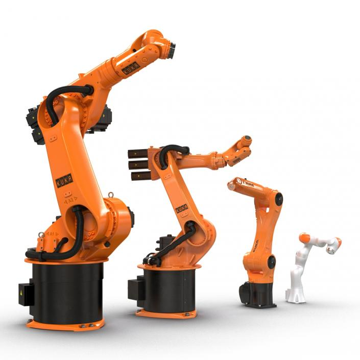 3D Kuka Robots Rigged Collection 2