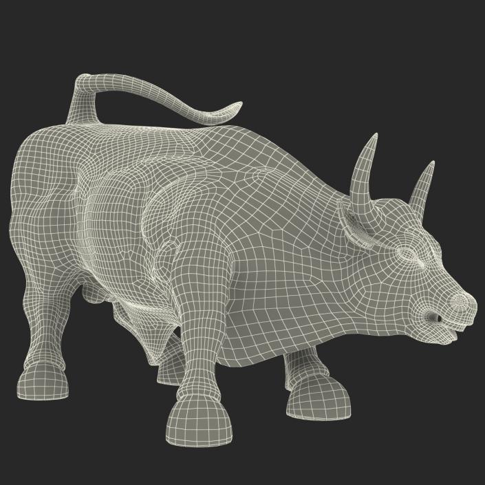 3D Wall Street Bull