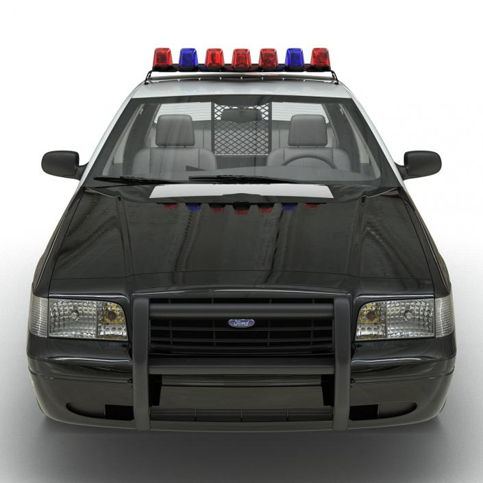 3D model Ford Crown Victoria Police Car
