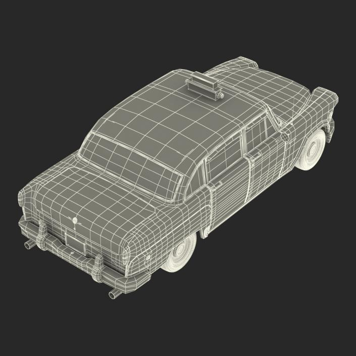 3D model OLD NYC Checker Cab Simple Interior
