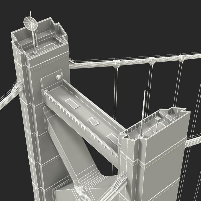 Akashi Kaiky Bridge 3D model