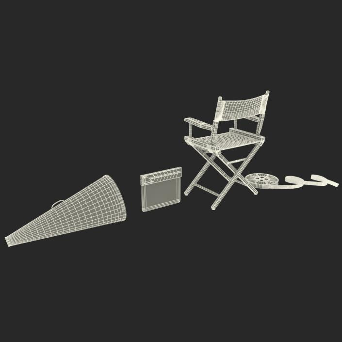 3D Director Chair and Accessories Collection 3 model