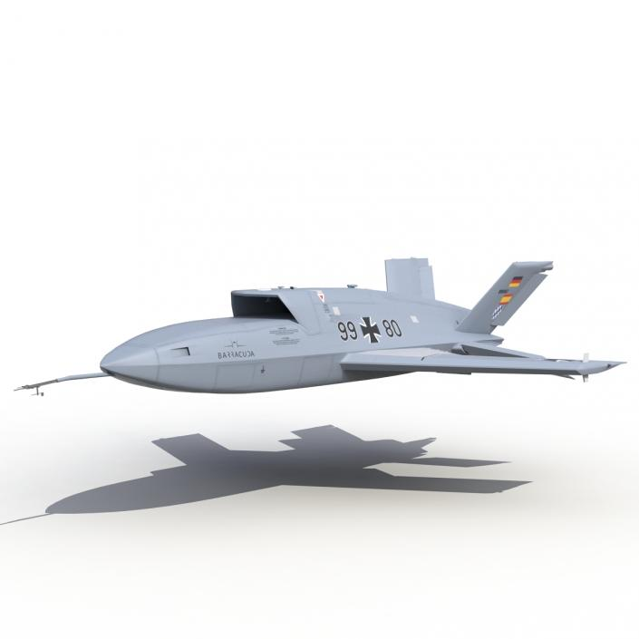 3d Model Eads Barracuda Uav Rigged 3d Molier International