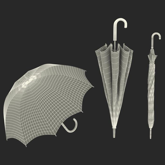 3D model Umbrellas Collection