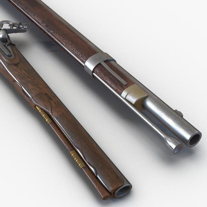 3D Muskets Collection model