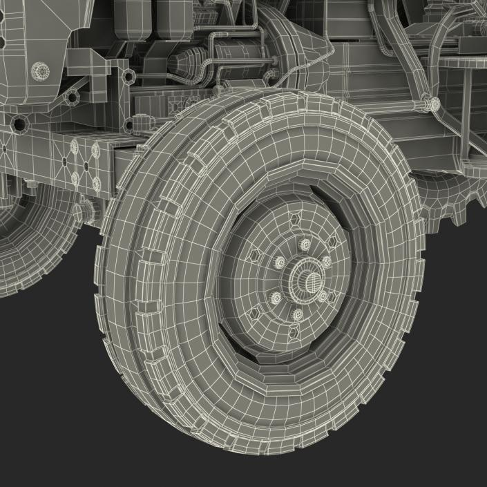 3D Tractor Mahindra 395 DI model