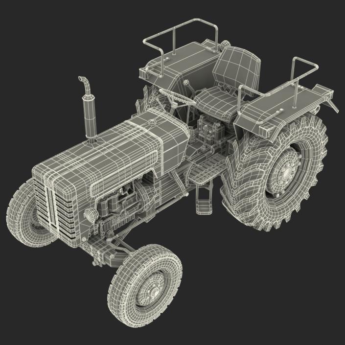 3D model Tractor Mahindra 395 DI Rigged