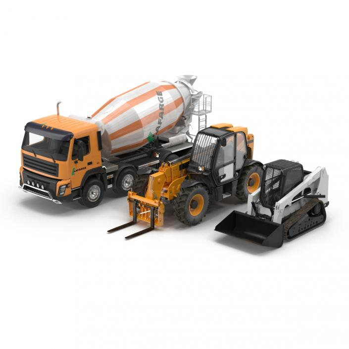 Industrial Vehicles Big Collection 3D model