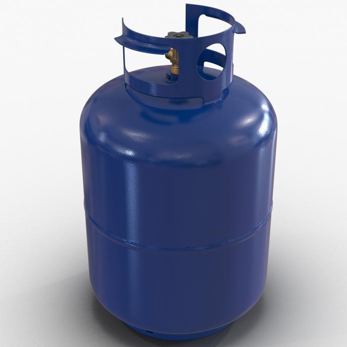 Gas Cylinder Blue 3D