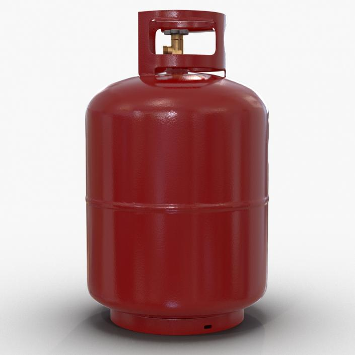 3D Gas Cylinder Red