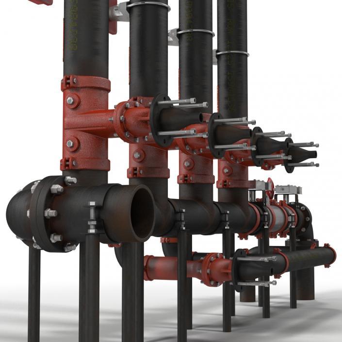 3D Industrial Pipes 4 model | 3D Molier International