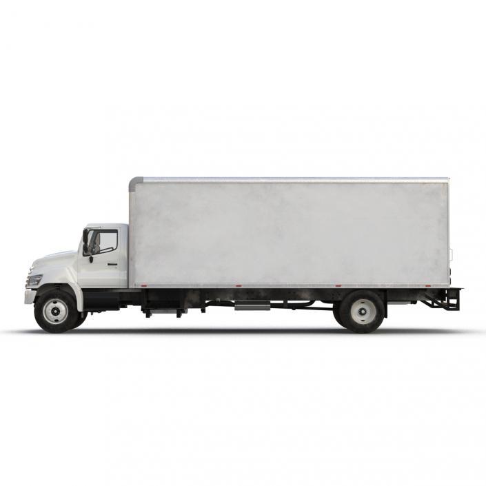 3D model Box Truck Simple Interior