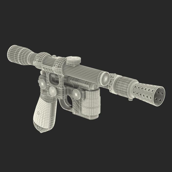 3D Star Wars Han Solo Blaster