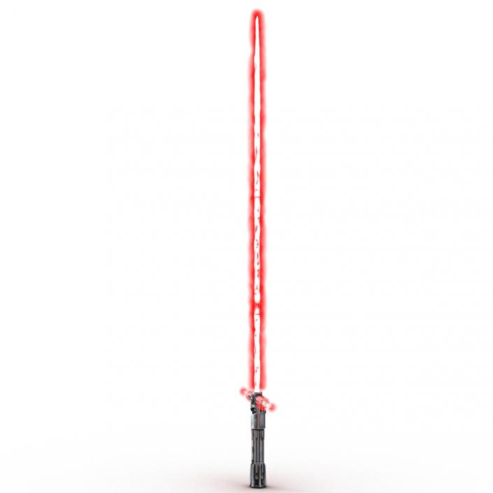 3D Kylo Ren Lightsaber Used 3D Models Set model