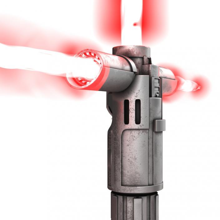 3D Kylo Ren Lightsaber Used 3D Models Set model