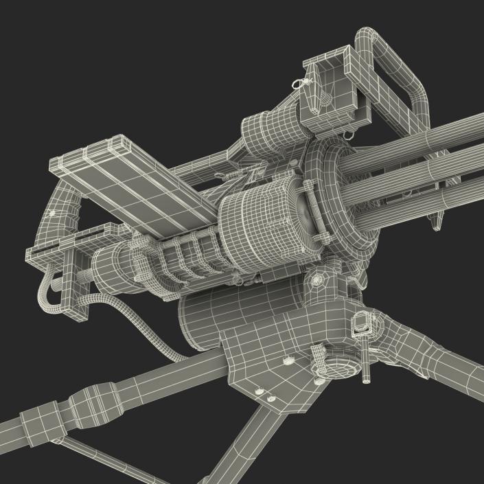 3D model Minigun Tripod Mount