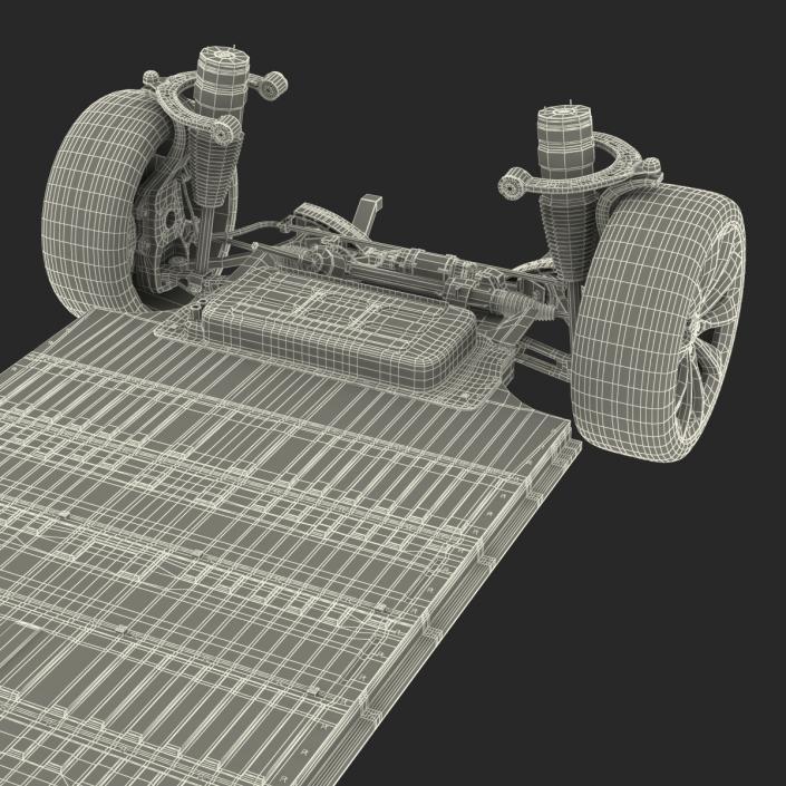 3D Tesla Model S Chassis 2 model