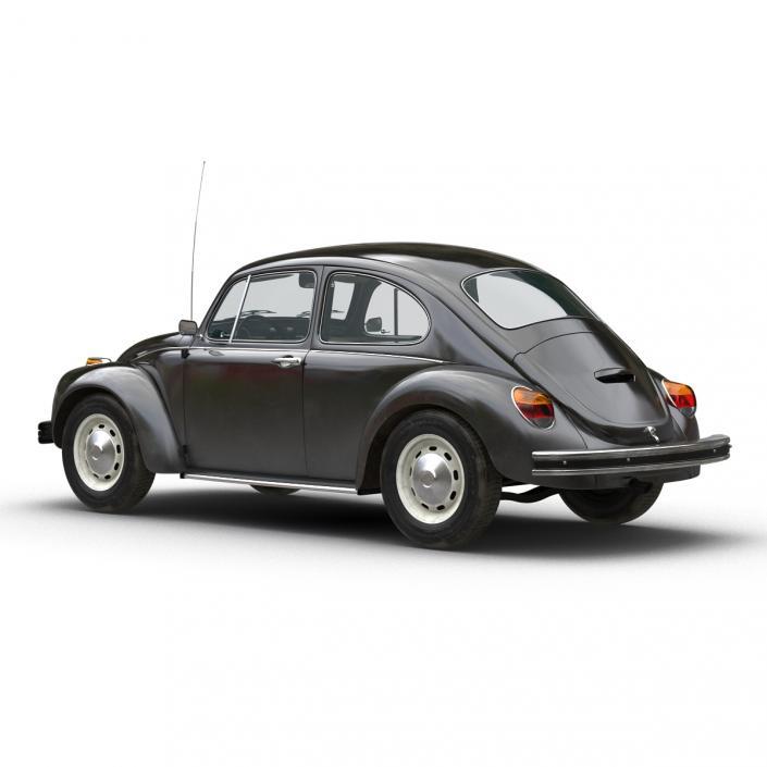Volkswagen Beetle 1966 Simple Interior Black 3D model