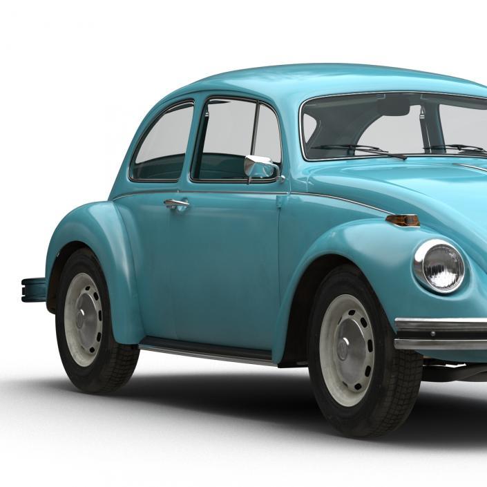 Volkswagen Beetle 1966 Blue 3D