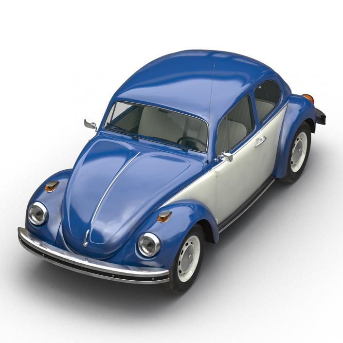 Volkswagen Beetle 1966 Blue 2 3D model