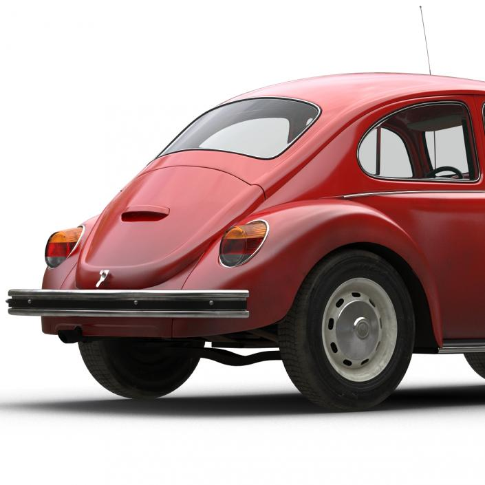 3D Volkswagen Beetle 1966 Red