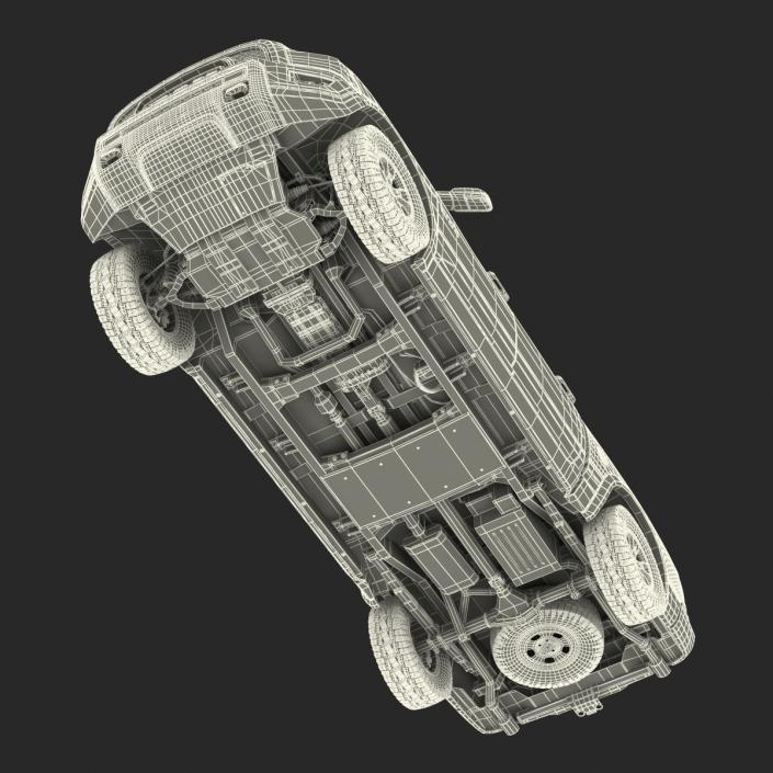 3D Dodge Ram Rebel 2016 Pikup Rigged model