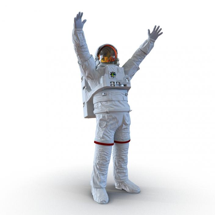 Extravehicular Mobility Unit without Visor Rigged 3D model