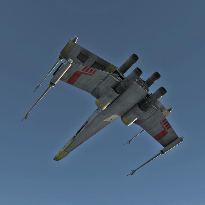 3D model Star Wars X-Wing Starfighter Yellow