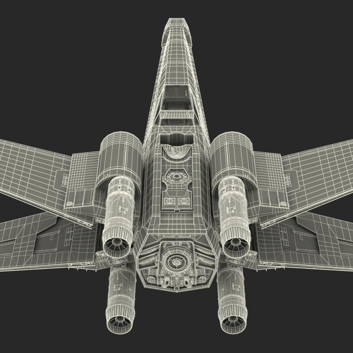 3D model Star Wars X-Wing Starfighter Yellow