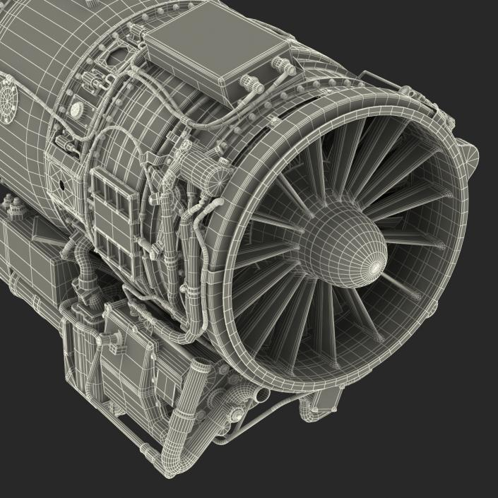 3D Turbojet Engine General Electric J85   3D Molier