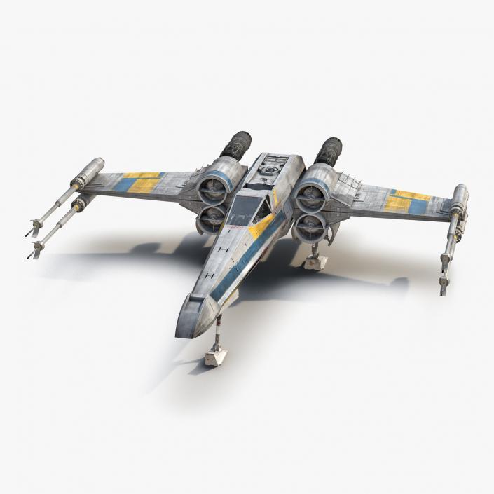 3D model Star Wars X-Wing Starfighter Blue 2