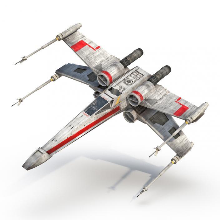 Star Wars X Wing Starfighter Red 3D