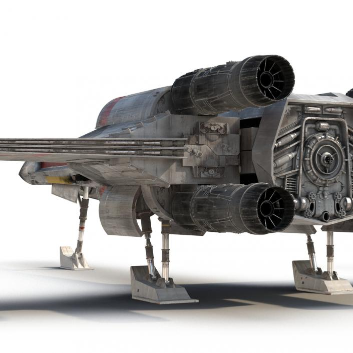 Star Wars X-Wing Starfighter Red 2 3D model