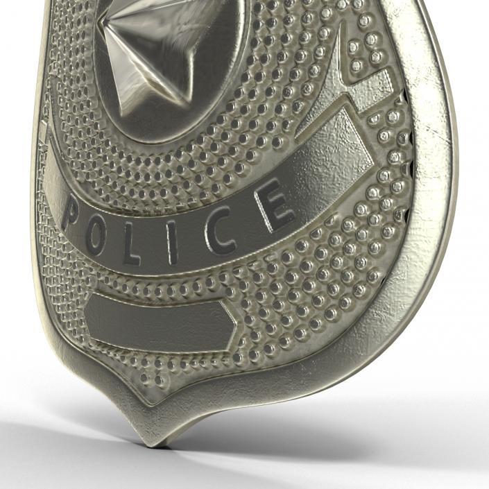Special Police Hat Badge 3D model