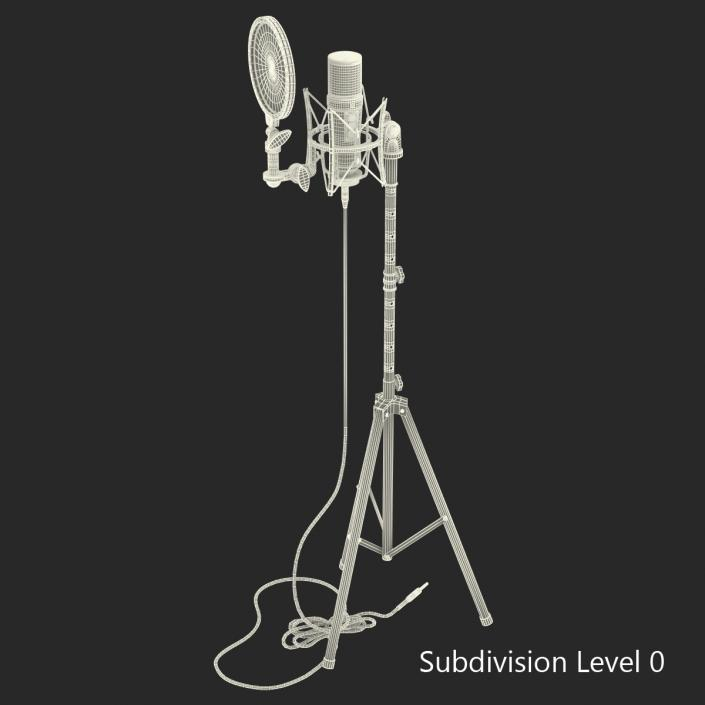 Studio Microphone and Stand 3D | 3D Molier International