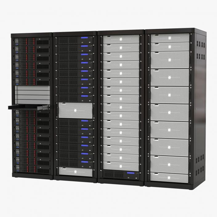 Generic Server Racks Set 3D model