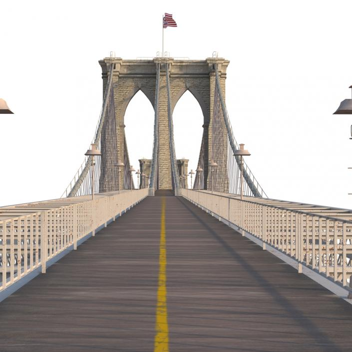 3D model Brooklyn Bridge