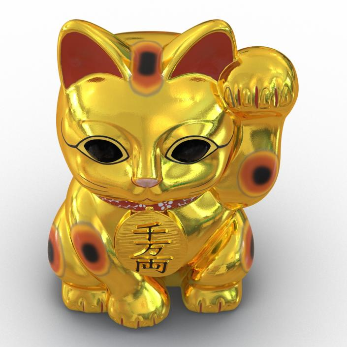 3D model Maneki Neko 2 Golden