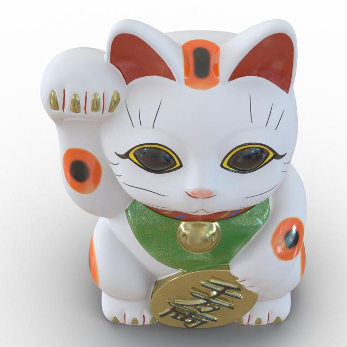 3D Maneki Neko 3 model