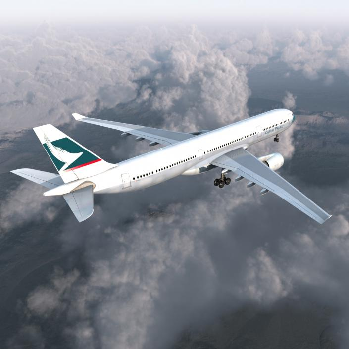 3D Jet Airliner Airbus A330-300 Cathay Pacific model